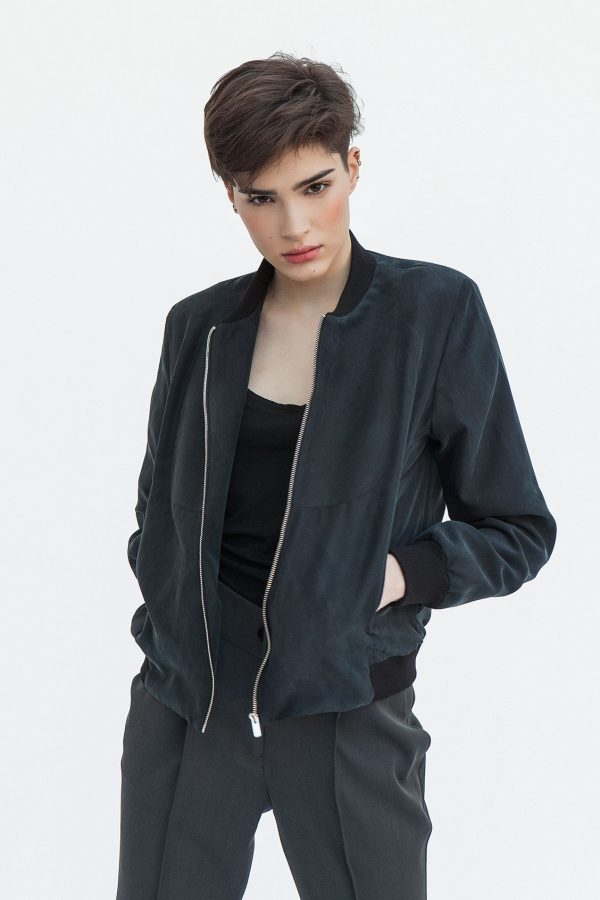 B1 Silk Bomber Jacket
