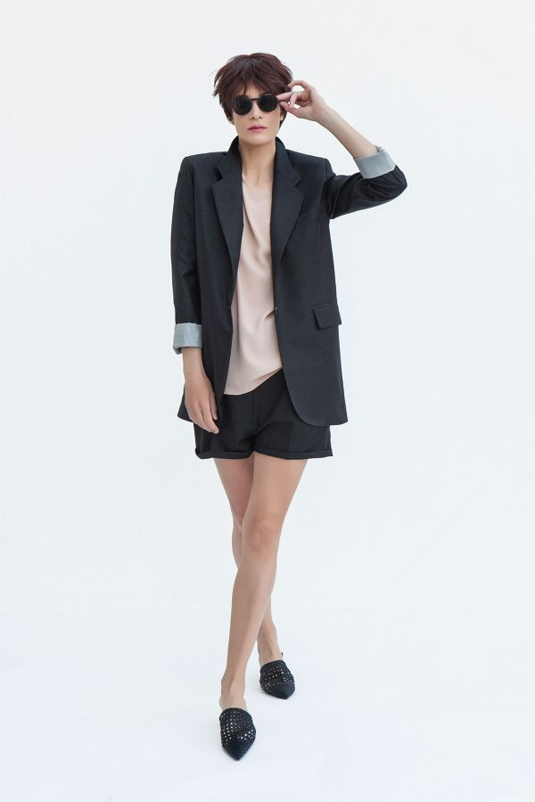 Oversized Jacket Black - S2