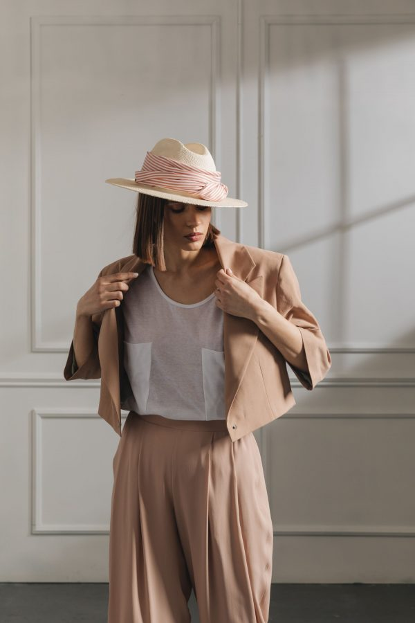 S4 Oversized  Short Jacket - Nude