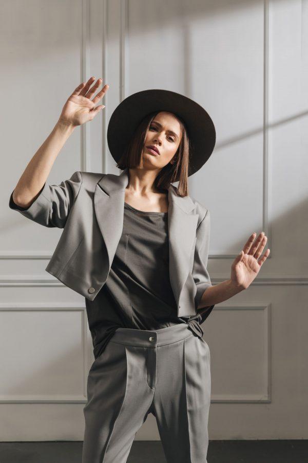 S4 Oversized  Short Jacket - Grey