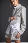 S4 White-Grey Stripes Jacket